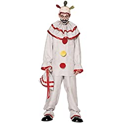 Spirit Halloween Adult Twisty The Clown Costume American Horror Story Freak Show, XL 48-50, White, XL 48-50, White, XL 48-50, White