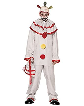 Spirit Halloween Adult Twisty The Clown Costume - American Horror Story: Freak Show, S 36-38, White