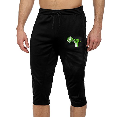 Funny Sunshine Green Power Fashion Summer Cropped Trousers For Men Black - Green Power Ranger Costumes Kids