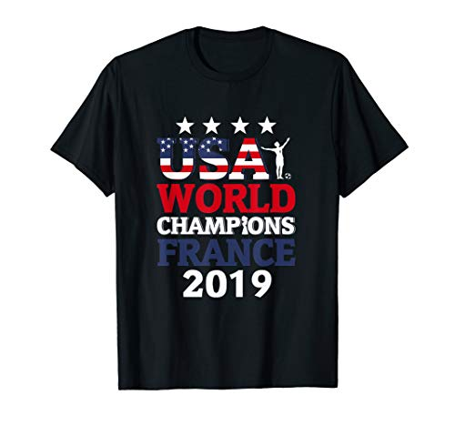 USA Women Soccer World Champions 2019 4 Stars Gift T-Shirt