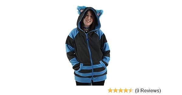 36cd3820f Amazon.com: Pawstar Cheshire Cat Mew Kitty Eared Hoodie Jacket Adult  Unisex: Clothing