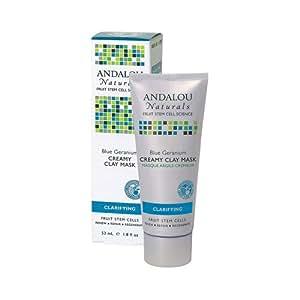 Andalou Naturals Creamy Clay Mask Blue Geranium