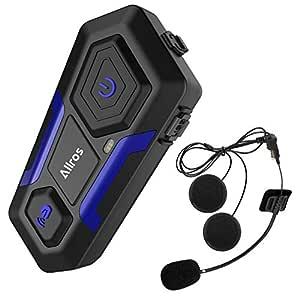 ALLROS T10 Auriculares Intercomunicador Moto Bluetooth, Intercomunicador Casco Moto Admite hasta 3 Motocicletas Comunicación Inalámbrica hasta 1200M ...
