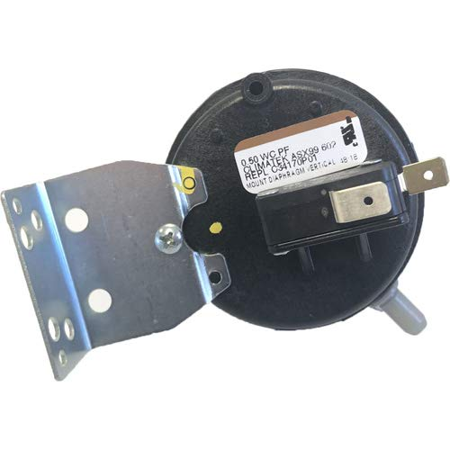 American Standard Furnace Vent Air Pressure Switch - Replacement for Part # C341750P01 .50