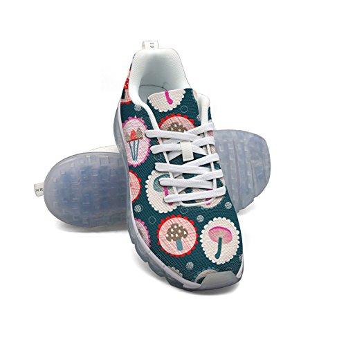 Et Les Champignons Des Femmes Des Fleurs Respirant Coussin Dair En Maille Baskets Mode Casual Gymnase Marche Athlétique Chaussures De Course Sport