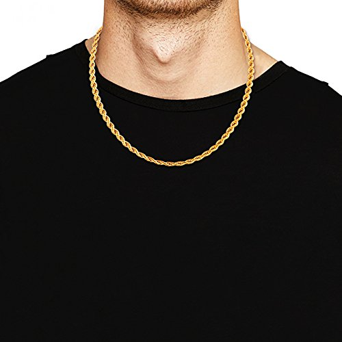 yellow chains mens polish gold jewelry high chain shop figaro necklace fine