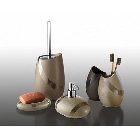 Gedy Accessori Bagno da appoggio Mod. Stone in ceramica, Moka ...