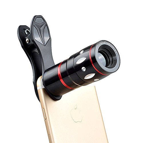 Apexel 10X Optical Zoom Telescope Lens Clip On Cell Phone Camera Lens for iPhone 6/7/6s Plus/SE, Samsung S7/S6/Edge, LG, Moto, HTC, Sony and more