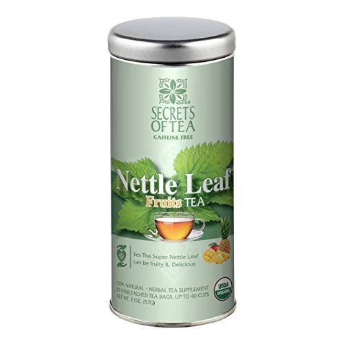 Nettle Leaf Tea Fruit Flavor- USDA Organic- No Caffeine- 20 Biodegradable Sachets- Up to 40 Servings