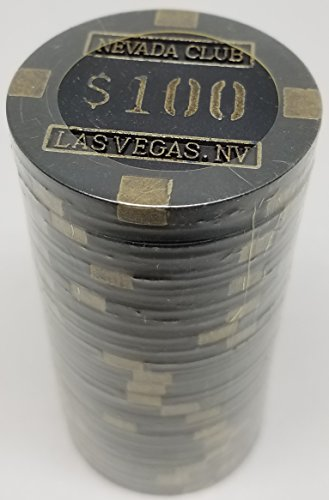 Poker Chips - (25) $100 Nevada Club 15 gram Clay Composite ()