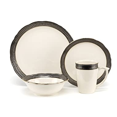 Cuisinart Stoneware Jenna Natural Collection 16-Piece Dinnerware Sets