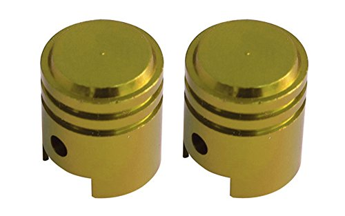 Savage BMX Bike / Cycle Alloy Anodised Tyre Valve / Dust Caps Piston Gold by Savage