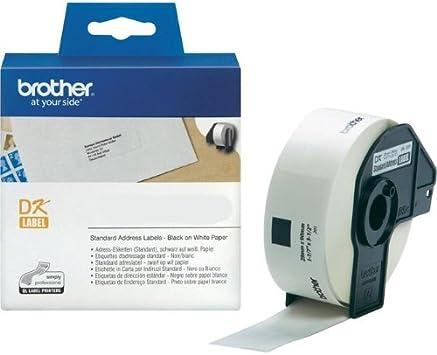 10 ROLLEN ETIKETTEN 29mm x 30.48m STANDARD für BROTHER P-touch QL-650 TD