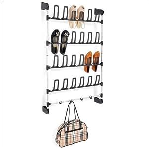 Zapatero para puerta hasta 12 pares de zapatos 4 for Ganchos para colgar botas
