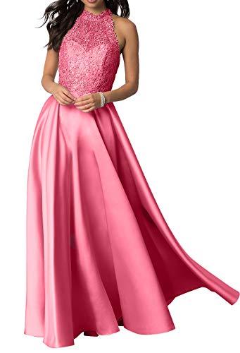 Prinzess Linie Ballkleider Satin Partykleider La Festlichkleider Spitze Braut Abschlussballkleider mia A Abendkleider Langes Wassermelon wPYR6zfxq