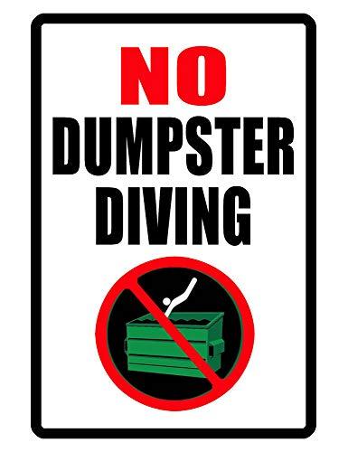 - Yohoba No Trespassing Sign No Dumpster Diving Sign Durable Aluminum Metal Signs 8