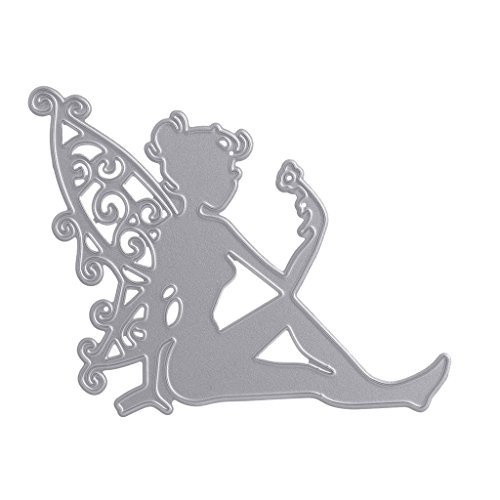 SCASTOE Wing Flower Fairy Girl Cutting Dies Stencil Scrapbooking Cards Embossing Craft