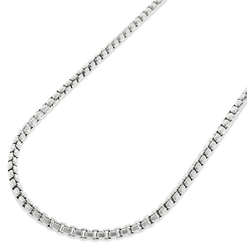 Sterling Silver Italian 2mm Round Box Link ITProLux Solid 925 Necklace Chain 16
