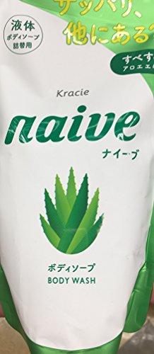 Naive Body Wash - Refill 418 ml - Pack of 4 (Naive Aloe)