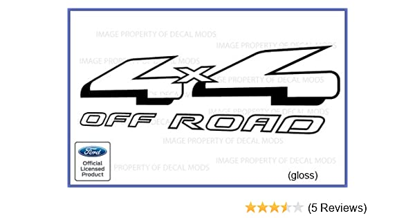 1997-2008 Ford 4x4 Off Road Decals Stickers set truck red black offroad FR