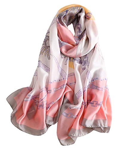 (FM Womens Mulberry Silk Scarves Long Satin Lightweight Scarf For Women (aa2))