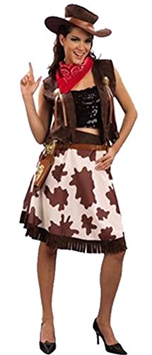 (RoseSummer Cowboy Costume Adult Wild West Halloween Fancy Dress)
