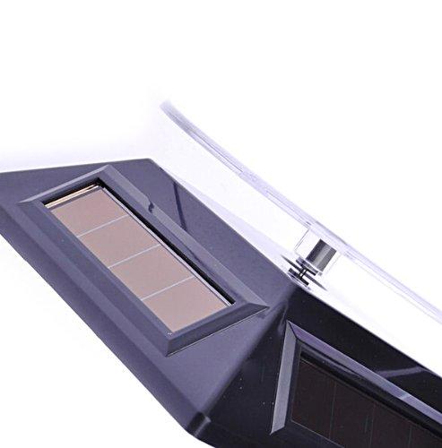 1 X Solar Powered Rotating Rotary Phone Jewelry Display Stand Turntable (Black)