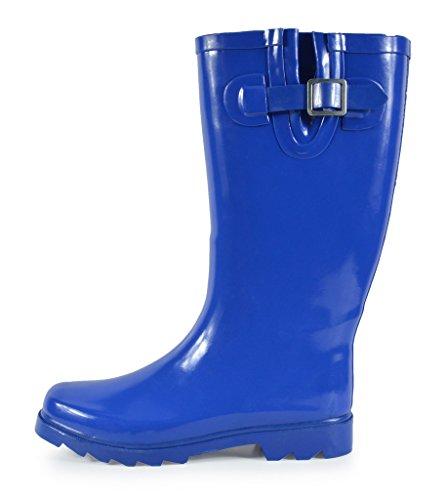 Rubber arctiv8 Women's Blue Rainboots High Snow Winter Knee qTZnPO5wHT