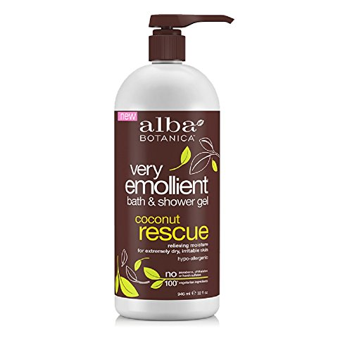 Alba Botanica Very Emollient Bath and Shower Gel, Coconut Rescue, 32 Ounce