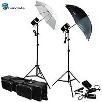LimoStudio Two Photo Studio Monolight Strobe Flash Softbox Umbrella Lighting Kits Trigger Carry Bag, AGG710