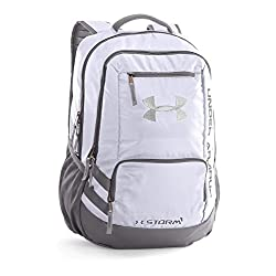 Under Armour Hustle II Backpack, White, One Size