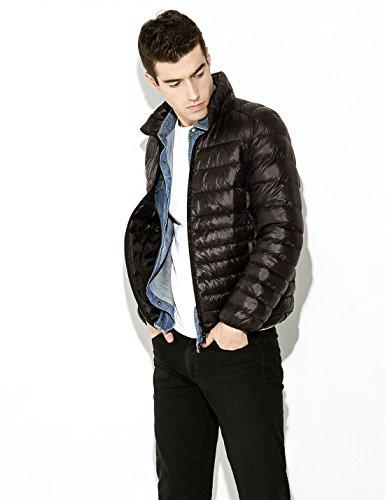 weight Yeokou Packable Down Quilted Black Jacket Short Puffer Coat Men's rrSqE