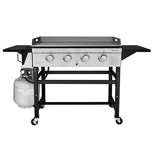 Royal Gourmet GB4001 4-Burner Propane Gas Grill Griddle Outdoor Flat Top, 36 inch, Black - Outdoor Grill Top