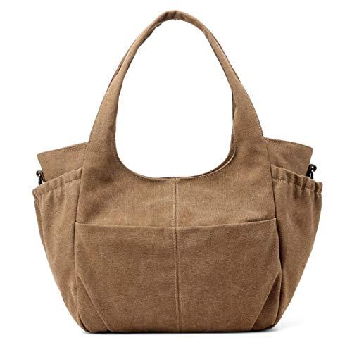 Borse a donnacoloregrigioCaff Lieyliso tracolla Donna tracolla a Shopping casual quadri in Borsa tela per a zVSqMUp