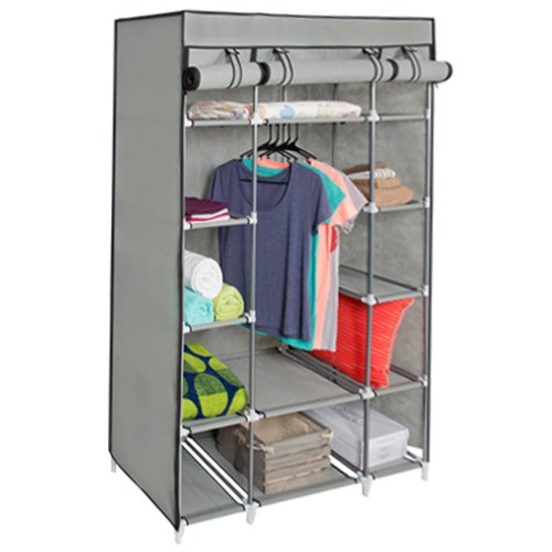 Best choice products 53 portable closet storage organizer for Portable book shelves