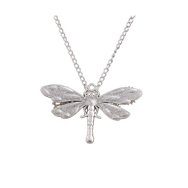 Joji Boutique Steampunk Collection: Mix-Tone Dragonfly Pendant Necklace 3