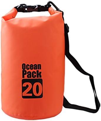Campeador impermeable bolsa seca flotante Ocean Mochila Mochila Ligero Bolsa De con correa para el hombro ajustable, 20L US, Anaranjado: Amazon.es: Deportes y aire libre