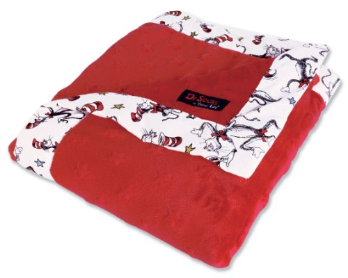 - Trend Lab Dr. Seuss Receiving Blanket, Cat In The Hat Red