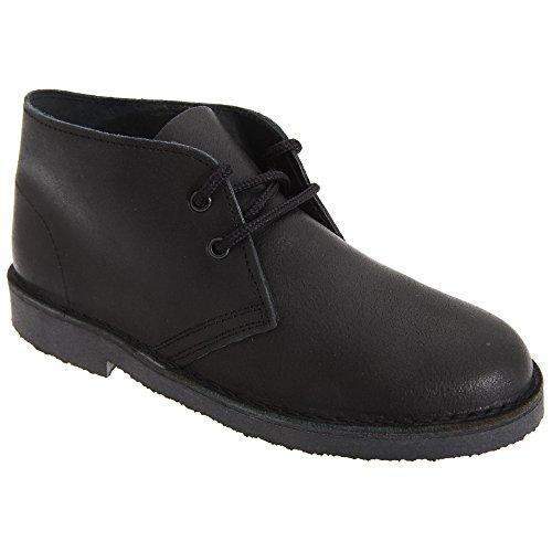 Roamers Kinder Unisex Schnürschuhe / Schnürhalbschuhe / Desert-Boots / Halbschuhe, Leder Braun