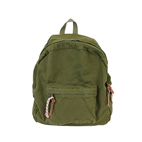 MiCoolker College School Backpack for Women Men Leisure Canvas Denim Travel Backpacks Purse for Girls and Boys Army Green ()