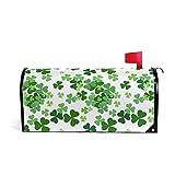 senya Home Garden St. Patrick Day Clover Pattern Magnetic Mailbox Cover Standard