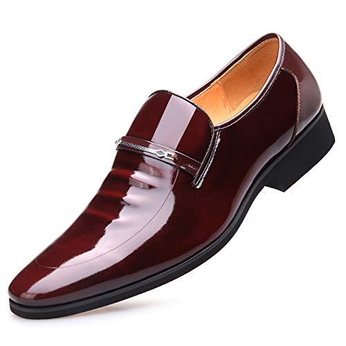 Eu Marrón Negocios Charol color Ywqwdae Tamaño De Duraderos Suela Para Blanda Transpirables Hombre Zapatos 41 Pulido Negro qCg6fxpw