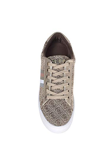fabric Oro Zapatillas Guess Para Talli2 Mujer active Altas Lady 8qxxt67wA