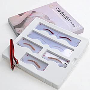 Bolayu Eyebrow Shaping Stencils Card Microblading Training Permanent Makeup Supplies from Bolayu