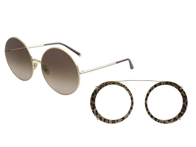Dolce & Gabbana 0DG2198 Gafas de sol, Gold/Bordeaux Leo, 63 ...