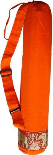 100% cotton yoga mat bag - SUNSET ORANGE by Yoga Malai   B0010VHL46