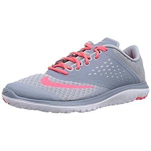 NIKE Women's FS Lite 2 Running Shoe, Light Magnet Grey/Hyper Punch/Magnet Grey, 6 B(M) US
