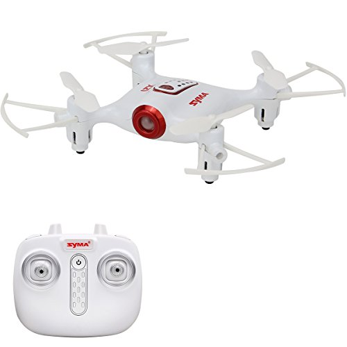 Aukwing Syma X21 Mini RC Drone, 2.4G Mini UFO Quadcopter with 6-Axis Gyroscope, Headless Mode 3D Flip Nano Helicopter Remote Control Toy RTF Mode 2 Fly 3d Rtf Helicopter