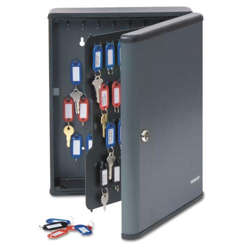 SteelMaster Security Key Cabinets, 90-Key, Steel, Charcoal Gray, 12 x 4 1/4 x 14 3/4