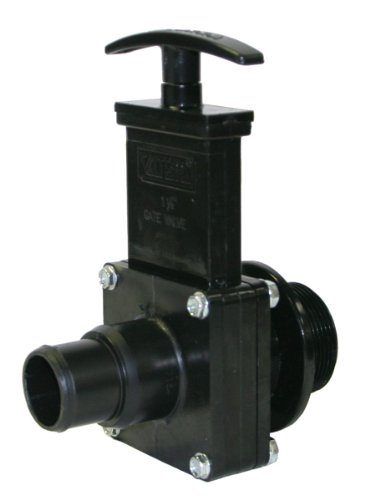 Valterra 7134 ABS Gate Valve, Black, 1-1/2